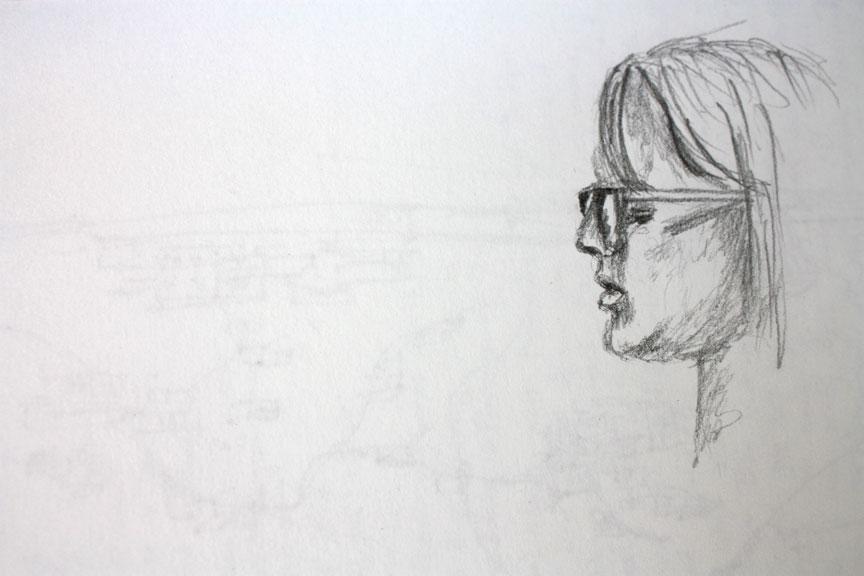 Nadaa Hyder drawing of Kristy Gordon portrait