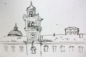 Parma Clocktower | pen