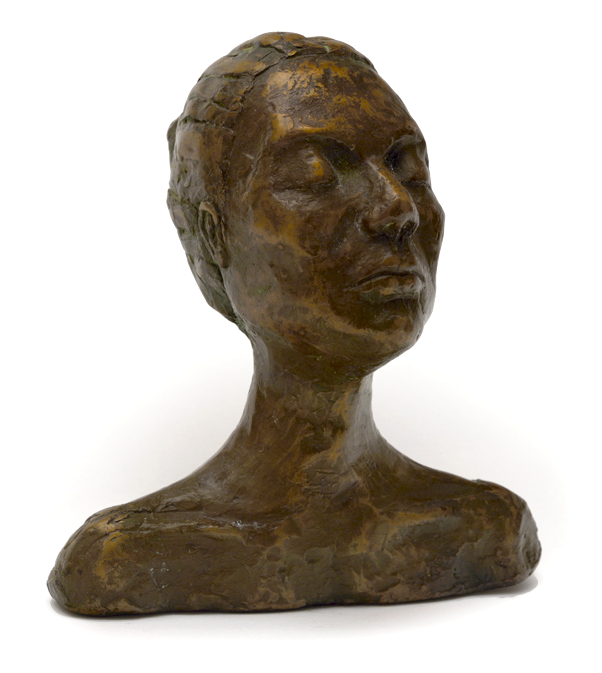 Bronze Sculpture Commission Female Portrait Serene Calm Figurative Realism Human
