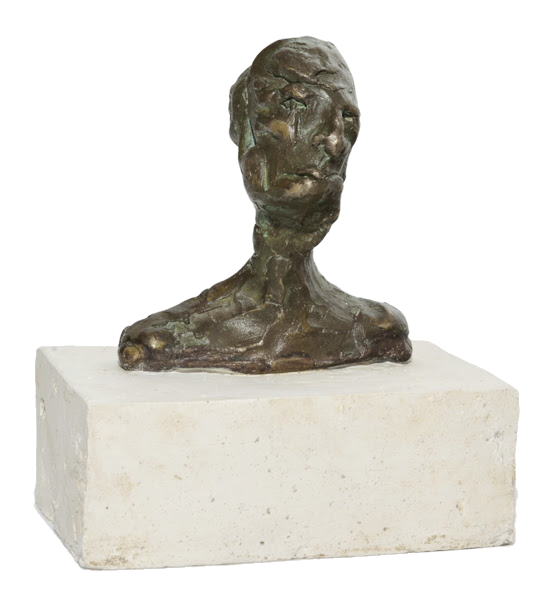 Bronze Sculpture Commission Male Portrait Figurative Sci-fi Abstract Human