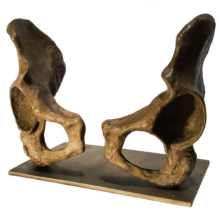 pelvis skeleton bronze sculpture coxal bones female anatomy