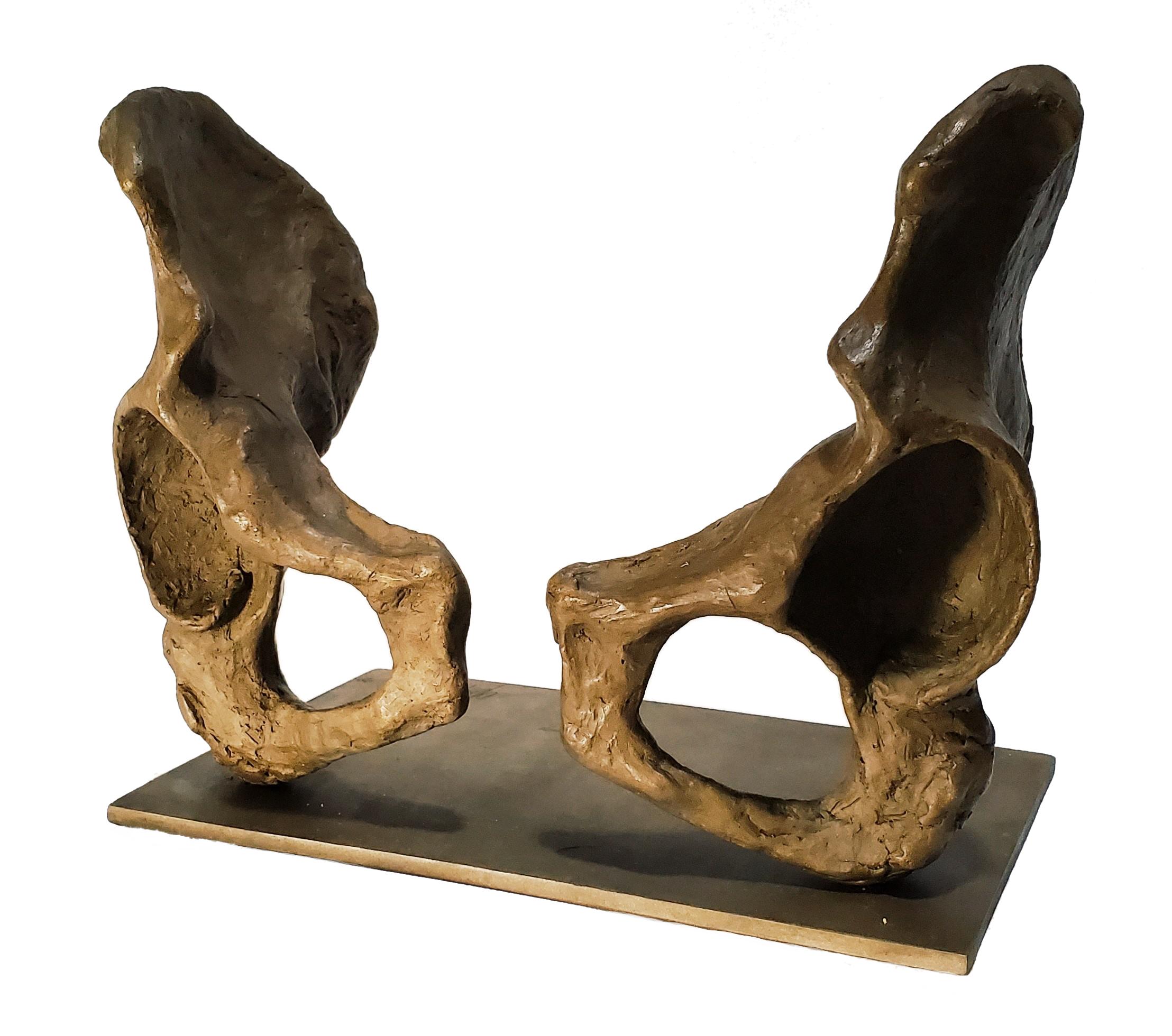 pelvis skeleton bronze sculpture coxal bones female anatomy
